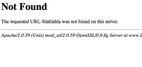 Créer une page d' Erreur 404 pour votre site web A